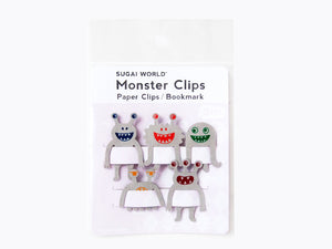 Paper Clip / Bookmark Gray Monster