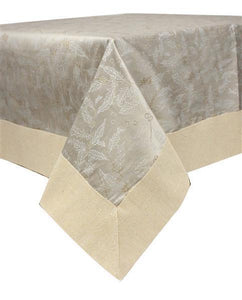 "54"" X 54""SQ TABLE TOPPER GREY/NATURAL/SILVER"
