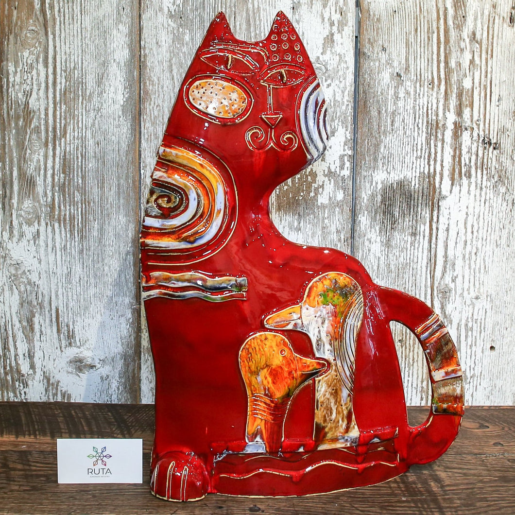 Large Ceramic Cat