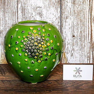 Medium Wide Ceramic Bubble Vase