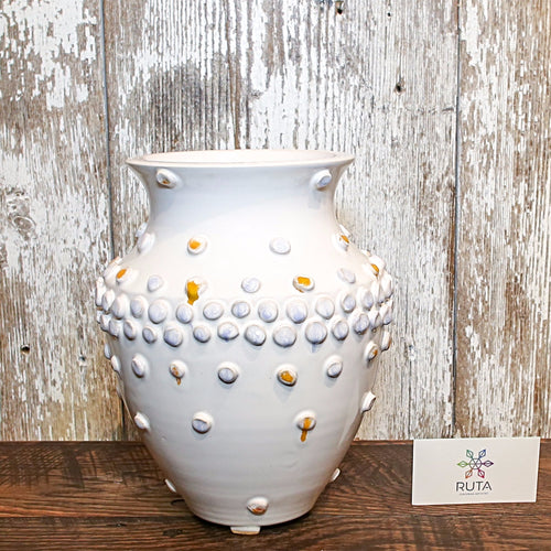 Ceramic Bubble Vase (White)