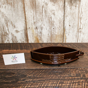 Small Ceramic Candy Bowl (Brown, Red, White or Green)