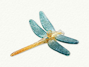 Dragonfly Ornament Yellow Body  w/c