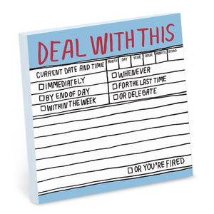 Hand-Lettered Deal With This Sticky Notes