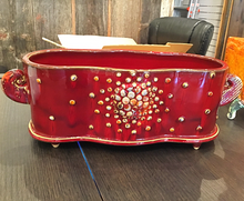 "Large Ceramic tray with ""Bubbles"""