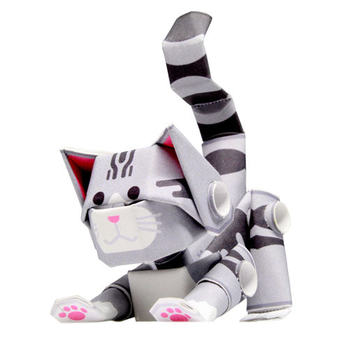 Piperoid animals Silver Tabby Cat