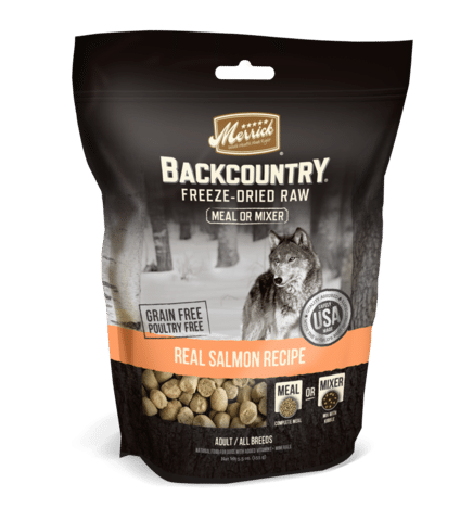Merrick Backcountry Freeze Dried Grain Free Salmon Meal Mixer for Dogs