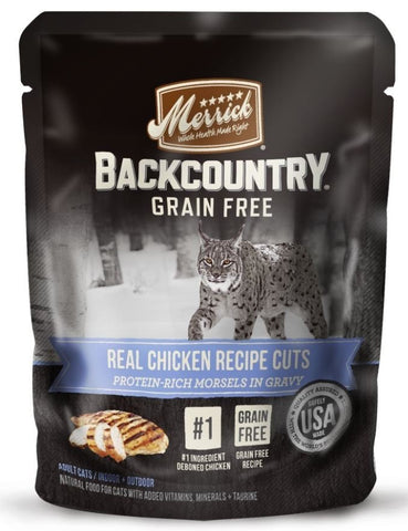 Merrick Backcountry Grain Free Real Chicken Cuts Recipe Cat Food Pouch