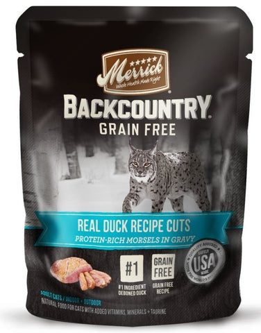 Merrick Backcountry Grain Free Real Duck Cuts Recipe Cat Food Pouch