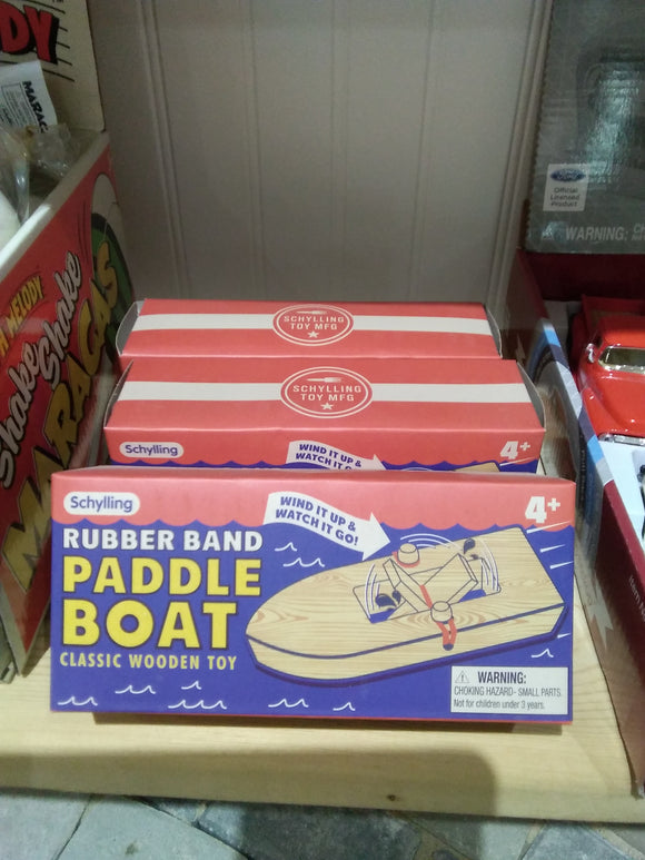 Rubber Band Paddle Boat Toy