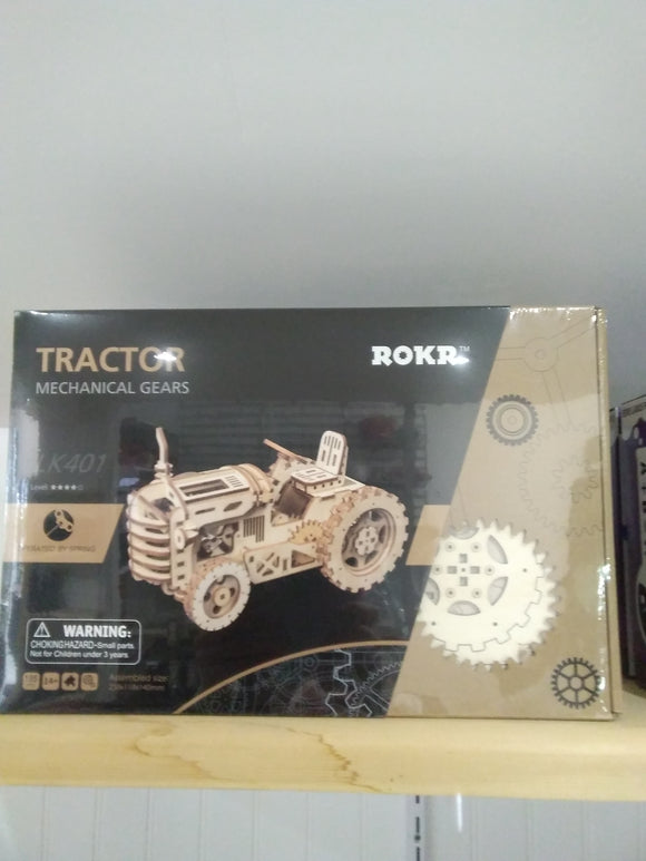Wooden Tractor Model Toy