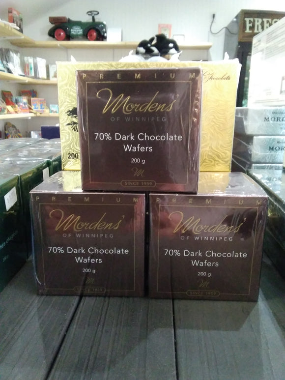 Mordens Chocolate, dark chocolate wafers