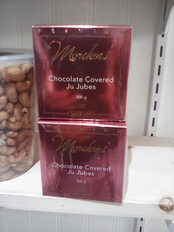 Mordens chocolate, chocolate covered ju jubes