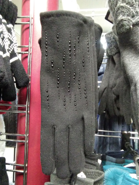 Black glove with sequins