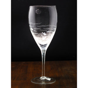 "Wine Glass ""Clear Fish"""