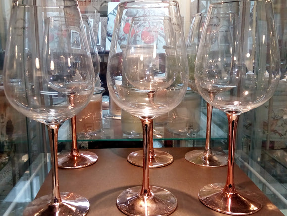 Hint of Copper Wineglass