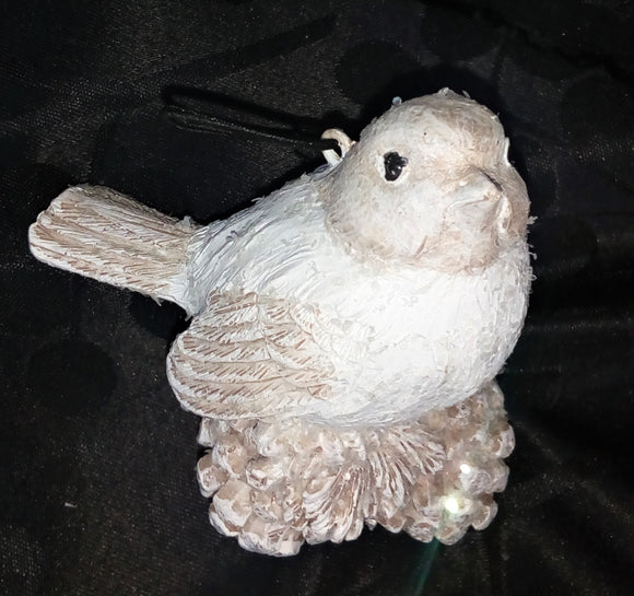 White Bird Christmas Ornament