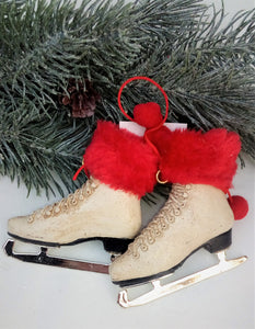 Faux Fur Skate Ornament