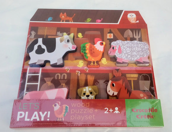 Let's Play! Barn Puzzle and Play Set