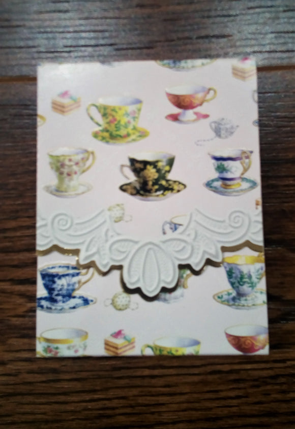 Teacups Purse Pad