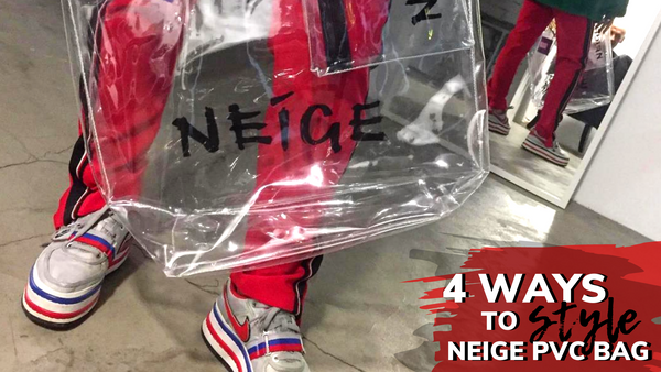 4 ways to style your NEIGE PVC Shopper bag