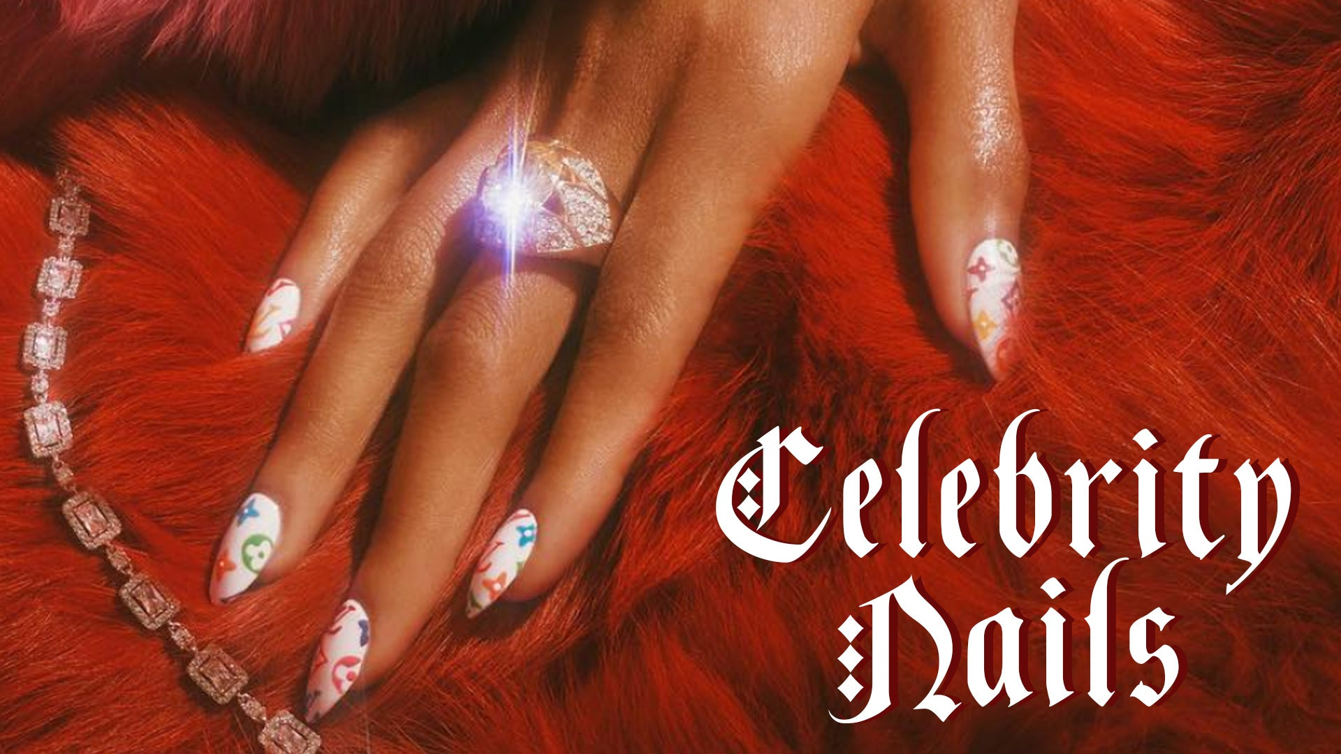 Celebrity nails - the blinger the better