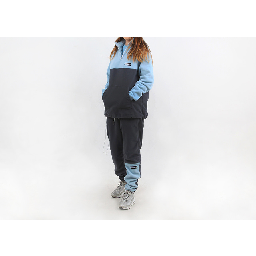 RUTHLESS FLEECE HALF ZIP UP JACKET / BABY BLUE
