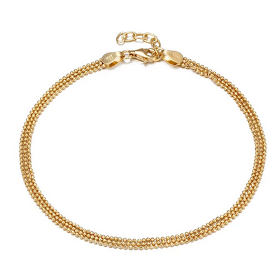 SEOL + GOLD LAYERED ANKLET