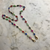 HOLY RECYCLE OVAL SHAPED RAINBOW GEMS ON FACE MASK CHAIN