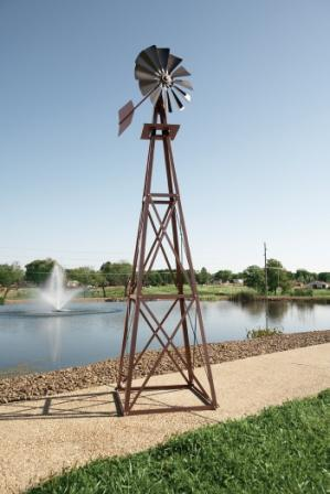 Outdoor Water Solutions BYW0004 Large Bronze Powder Coated Backyard Windmill
