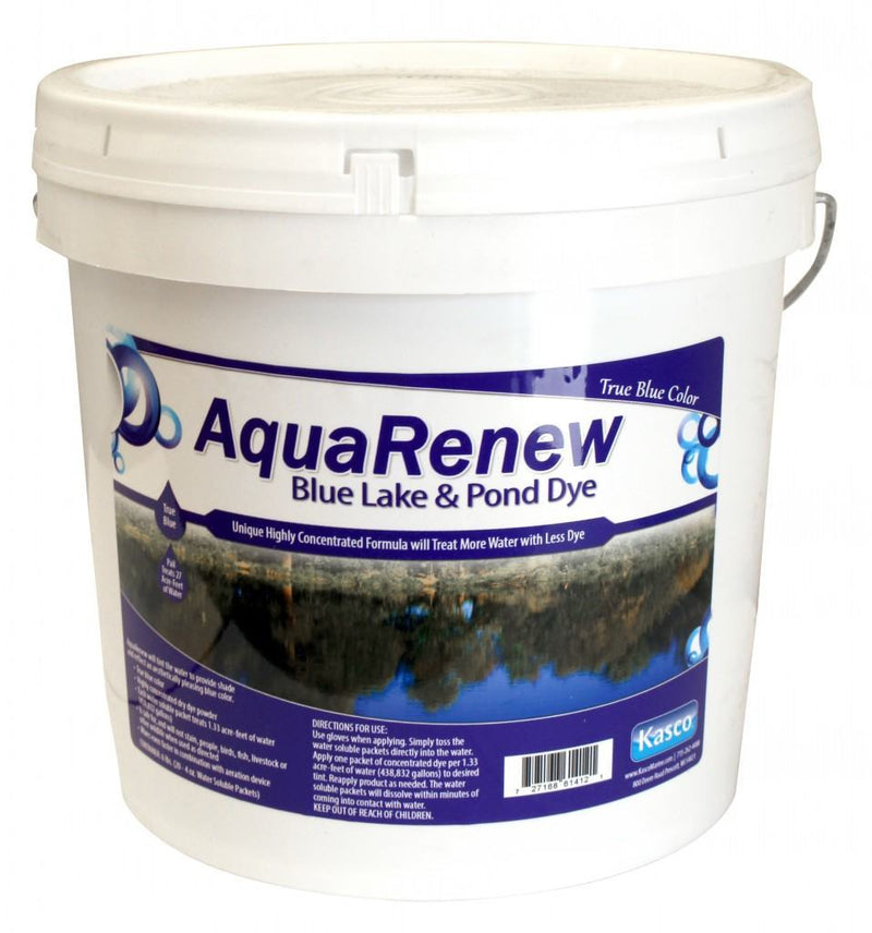 Kasco Marine ARB80-4 AquaRenew Blue 21 lbs. Pail of 80 x 4 oz Water Soluble bags