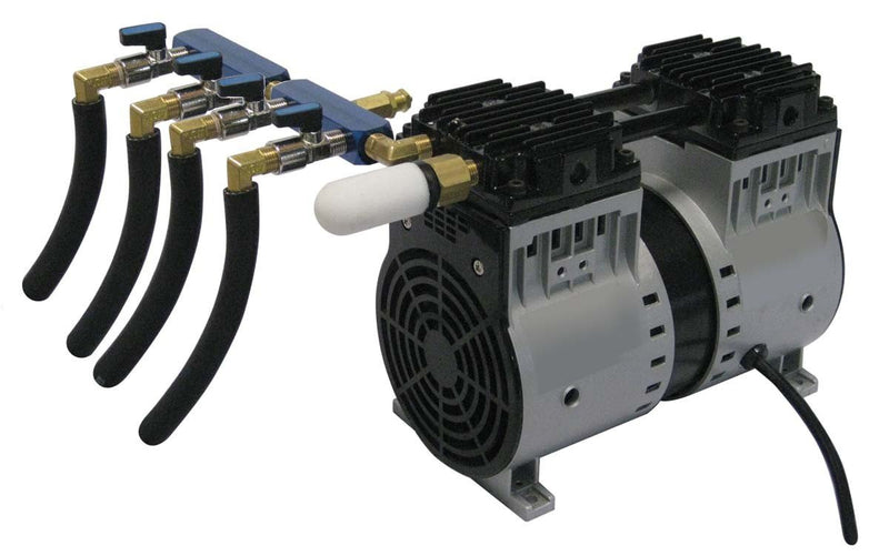 EasyPro PA86WLD Rocking Piston Pond Aeration system 3/4HP Kit w/Quick Sink Tubing (No Diffusers)