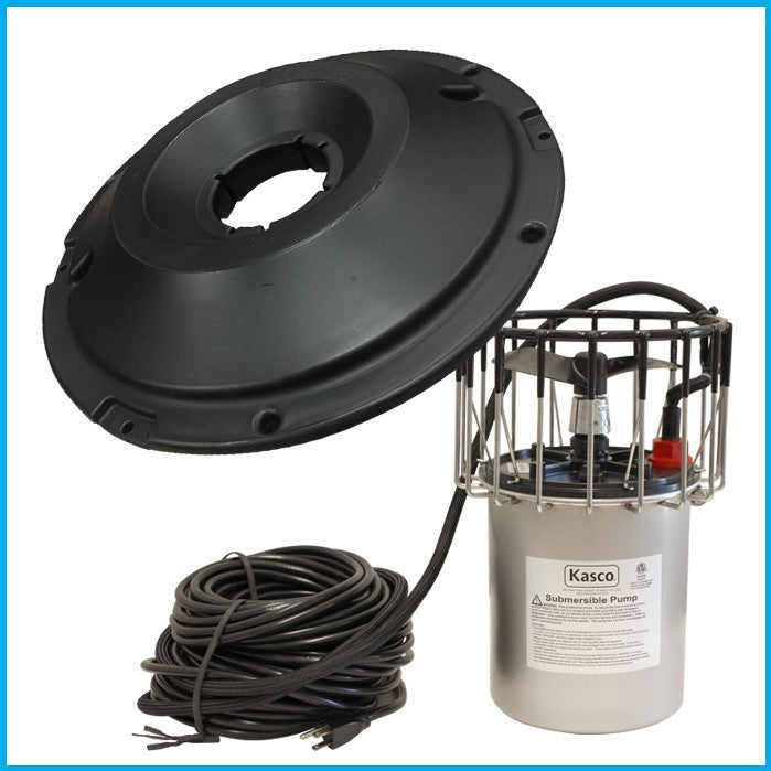 Kasco Marine 2400AF100 Btm Scr 2400A AF Series Surface Aerator 1/2 HP w/Float, Bottom Screen, 100ft Cord