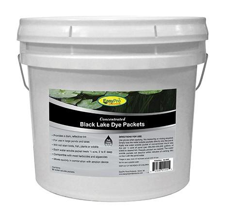 EasyPro PD80PBK Concentrated Black Pond Dye Dry WSP 80 pack Pail