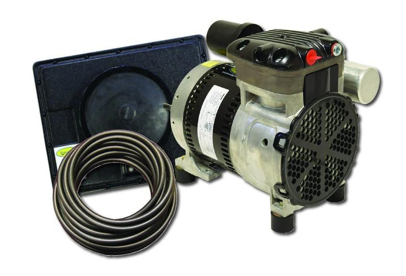 EasyPro PA34 Rocking Piston Pond Aeration System, 1/4 HP, 115V Kit w/Poly Tubing