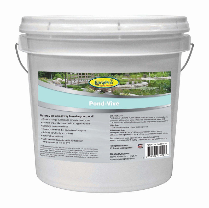 EasyPro PB10X Pond-Vive Bacteria X 20ct. 8oz Water Soluble Packs (approx. 10lb pail)