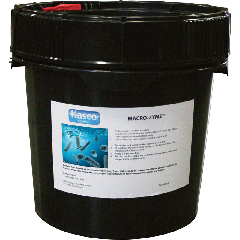 Kasco Marine MZ25 Macro-Zyme 25 lb. bulk bag in pail, no Water Soluble bags