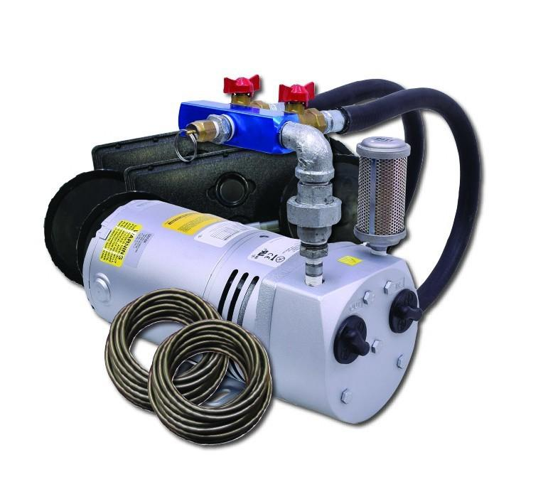 EasyPro PA50W2 Rotary Vane Pond Aeration System- 1/4 HP, 230V Kit w/Quick Sink Tubing