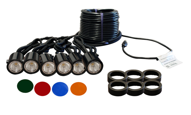 Kasco Marine LED6C11-100 LED Light kit, 6 fixtures, w/100ft Cord