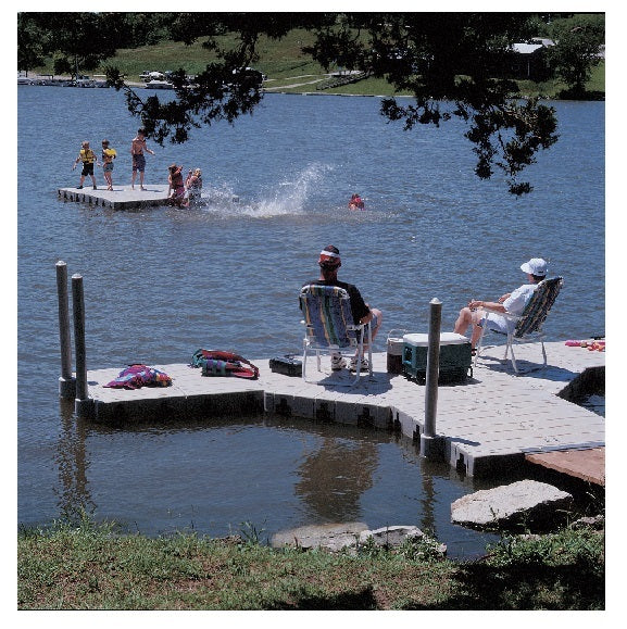 Outdoor Water Solutions DOK0262 Connect a Dock, 15' Dock with Walkway Low Profile (Model 1010)