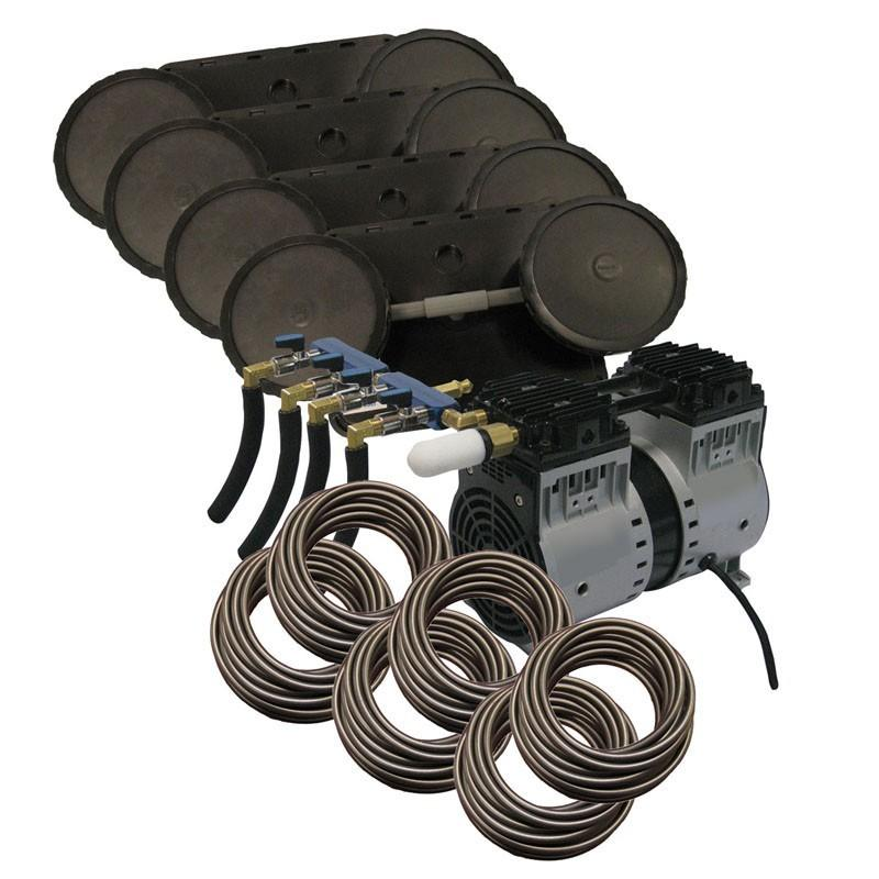 EasyPro PA86W2 Rocking Piston Pond Aeration system, 3/4HP, 230V Kit w/Quick Sink Tubing