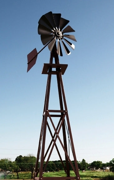 Outdoor Water Solutions BYW0057 Small Bronze Powder Coated Backyard Windmill
