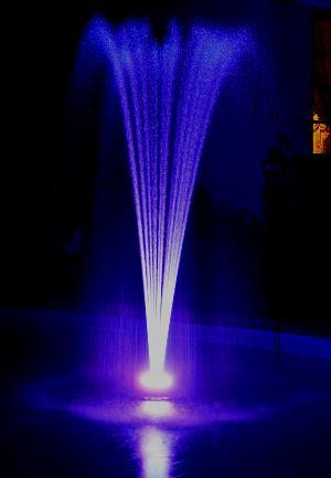 Small Floating Pond Fountain 1000 w/ 96LED Light Ring