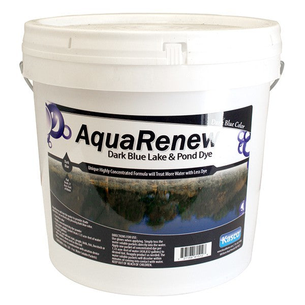 Kasco Marine ARDB80-4 AquaRenew Dark Blue 21 lbs. Pail of 80 x 4 oz Water Soluble bags