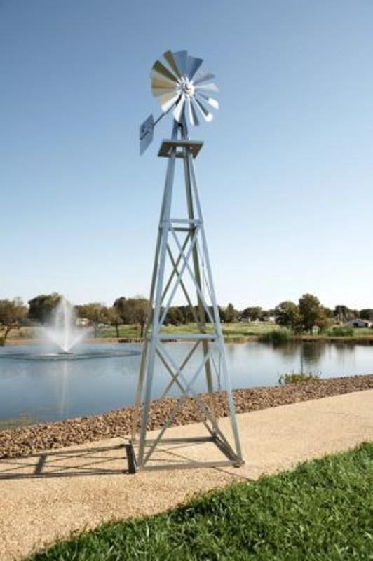 Outdoor Water Solutions BYW0003 Large Galvanized Backyard Windmill