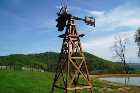 Outdoor Water Solutions WTW0114 OWS 16' Aeration Windmill 4 Legged Wooden Deluxe Powder Coat Head