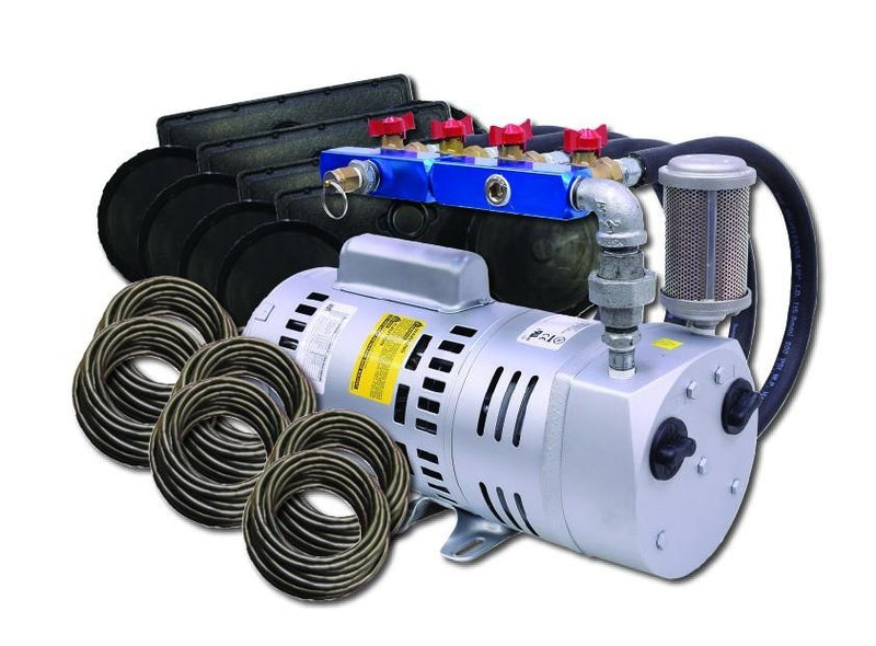 EasyPro PA75W Rotary Vane Pond Aeration System, 3/4 HP, 115V Kit w/Quick Sink Tubing