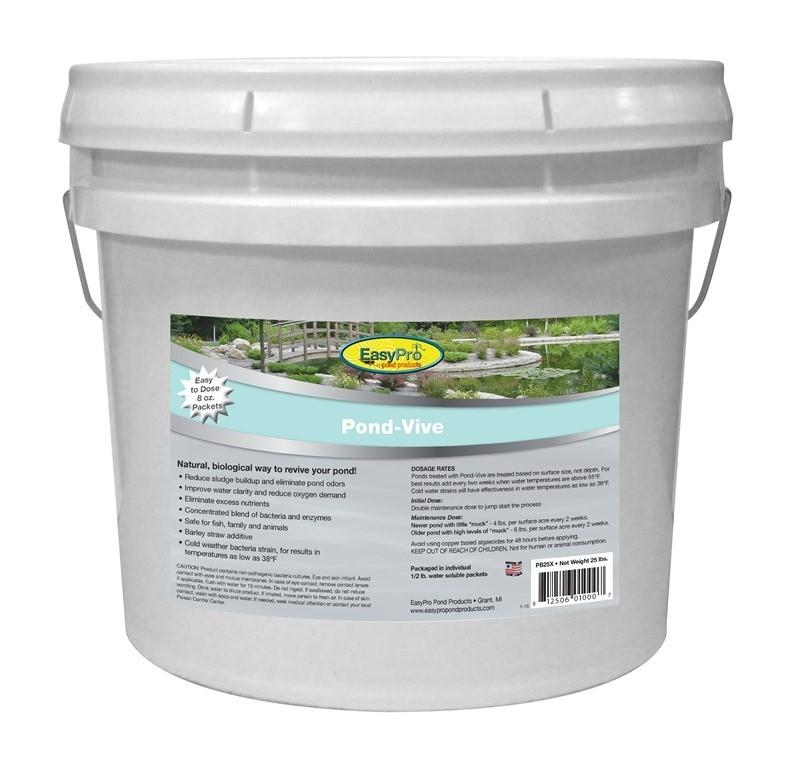 EasyPro PB25X Pond-Vive Bacteria X 50ct. 8oz Water Soluble Packs (approx. 25lb pail)
