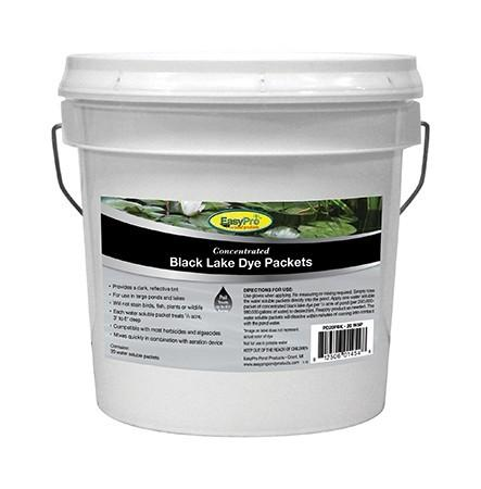 EasyPro PD20PBK Concentrated Black Pond Dye Dry WSP 20 pack Pail