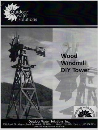 Outdoor Water Solutions WTW0182 OWS Wood Windmill Kit